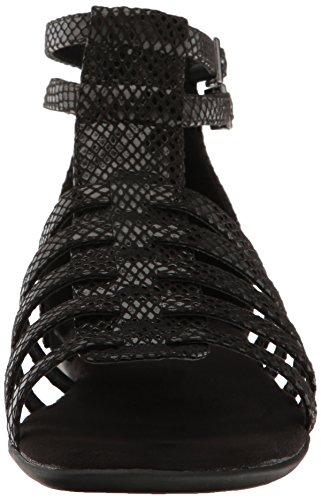 Black Women's Paper Snake Gladiator Sandal Chlip Aerosoles wzX1n6xqP6