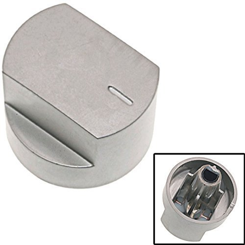 SPARES2GO Switch Knob for STOVES Oven Cooker Hob Silver
