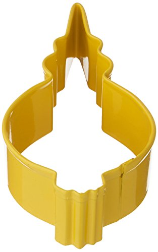 R&M Ornament Fancy Round Cookie Cutter, 3.5-Inch, Yellow with Brightly Colored, Durable, Baked-on Polyresin Finish (Colored Baking Clay compare prices)