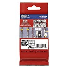 Brother TZES231 Genuine P-Touch Tape Strong Adhesive (12 mm Black on White)