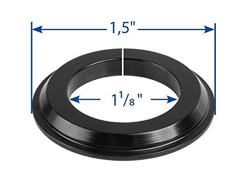 RIDEWILL BIKE & apos Adaptador Pista Serie Dirección Cónico 1, 5a 1–1/8 negro (rodillos Serie Dirección)/Tapered Headset Fork Cone Adapter 1, 5to 1–1/8BLACK (Headset Spare Parts)