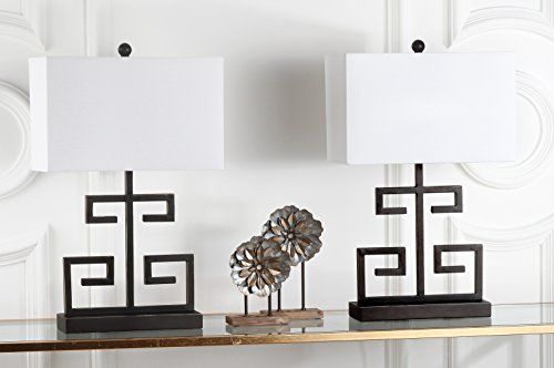 Safavieh Lighting Collection Greek Key Bronze 24-inch Table Lamp (Set of 2)