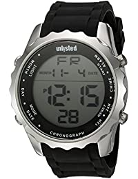 Mens Sport Quartz Metal and Silicone Casual Watch, Color:Black (Model. Unlisted Watches