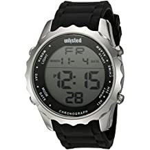 UNLISTED WATCHES Men's 'Sport' Quartz Metal and Silicone Casual Watch, Color:Black (Model: 10030900)
