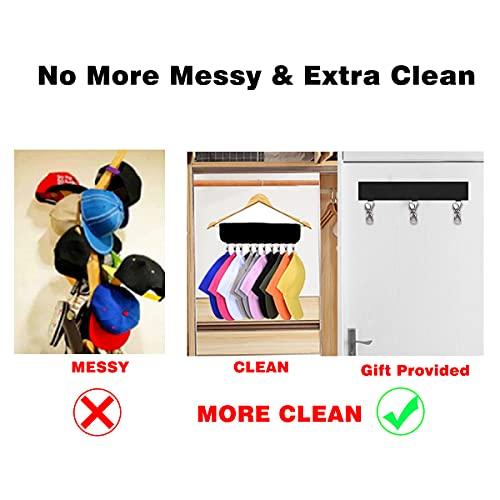 Flanagan Cap Organizer Hanger, Baseball Cap Holder(1 set 10pcs), Hat Storage Cleaner for Closet, Folding Clothes Hangers Foldable Clothes Drying Rack for Travel