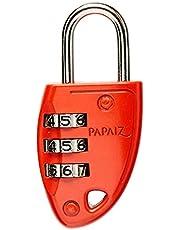Papaiz 0114000SMVM, Cadeado de Segredo C23, Vermelho