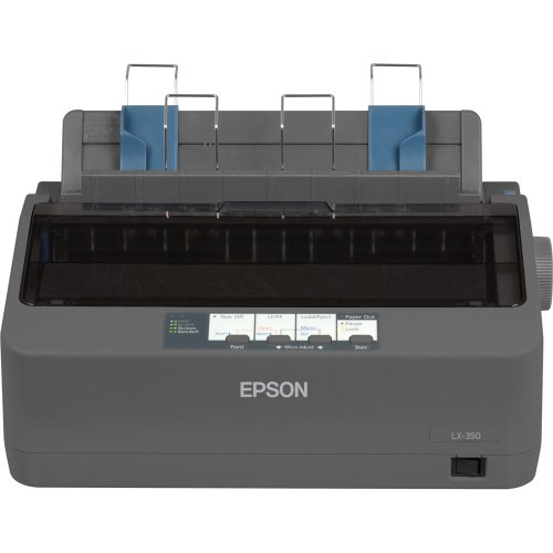 Epson C11CC24001 LX-350 Dot Matrix Printer - 9 pin - up to 347 Char/SEC - Parallel/Serial/USB - Sec Parallel Serial