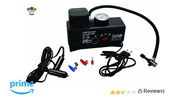 Compresor mini para 12 V o 220 V, bomba para balón: Amazon.es: Bricolaje y herramientas
