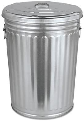 Amazon.com: Pre-Galvanized Trash Can With Lid, Round, Steel, 20gal, Gray,  Sold as 1 Each: Home & Kitchen