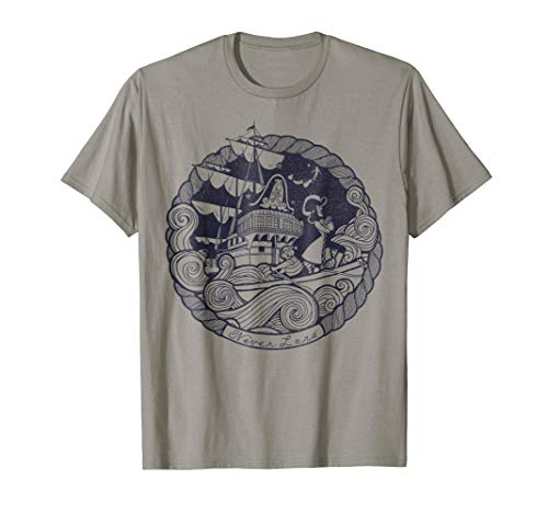 Disney Peter Pan Captain Hook Ship Stamp Graphic T-Shirt ()