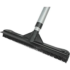 Multi-Purpose Telescoping Mega Cleaning Brush - Squeegee, Rake, Broom in One