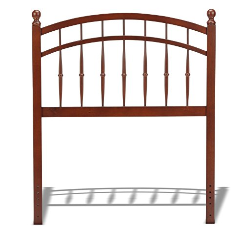 Leggett & Platt Bailey Wood Headboard Panel with Intricate Spindles and Soft Curved Top Rail, Oak Finish, Twin (Wooden Twin Headboard)
