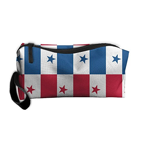 ZPbag Panama Flag Portable Zipper Storage Bag Make-Up Pouch Beauty Cosmetic Bag Carry Case Brush Organizer Toiletry Hanging Storage Bag Sewing Kit Medicine - Panama Shopping Online