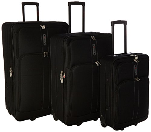 5 Cities The Barcelona Collection Juego de maletas CITIES602 21/26/29 Black, 74 cm, 88 L, Negro