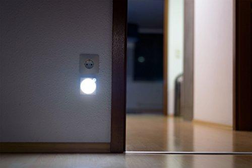 ansmann led nachtlicht mit bewegungsmelder innen led leuchte 1 st ck ebay. Black Bedroom Furniture Sets. Home Design Ideas