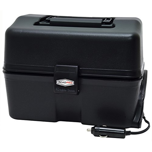 RoadPro 12 Volt Portable Stove Black product image