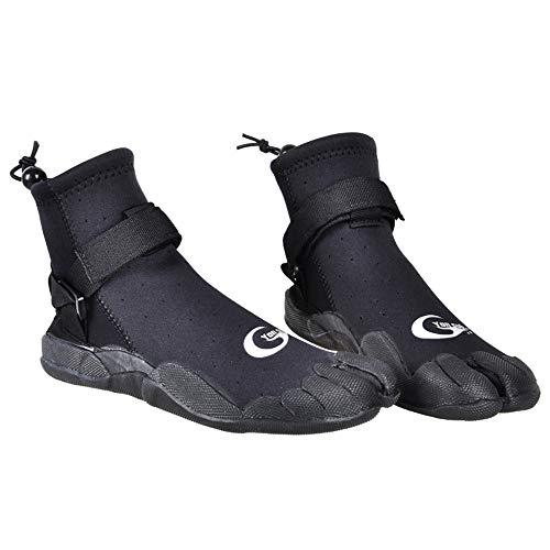 (YONSUB 3mm Neoprene Diving Snorkeling Shoes for Men/Women Water Sports Split Toe surf)