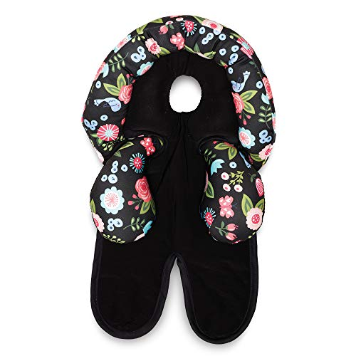 Boppy Head and Neck Support, Ebony Floral, Car Seat Head Support for Infants