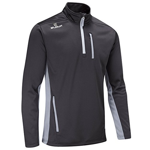 Half Zip Thermal (Stuburt Golf 2017 Mens Endurance Sports Thermal Half Zip WindProof Fleece Pullover Black XL)