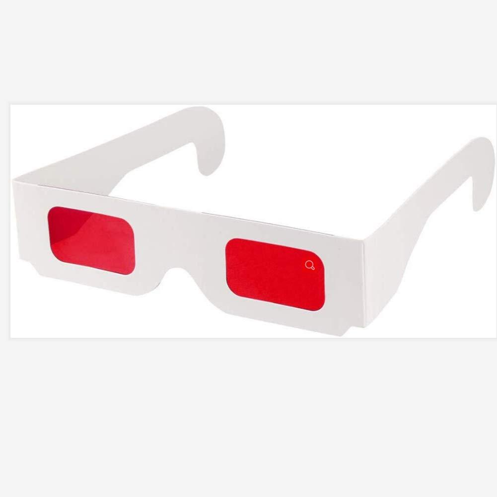 Gafas decodificadoras secretas Filtros Rojos Rojos Lentes-Marco de Color Blanco- Paquete de 10 Pares Gafas Estilo esp/ía