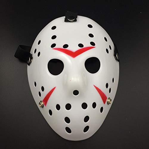 Party Masks - Horror Movie Hockey Halloween Mask Party Masks Great Funny Festival Cosplay Costume Masquerade - Wear Kids Lace Stick Glasses Masks Masquerade Superhero Couples Gold Male P -