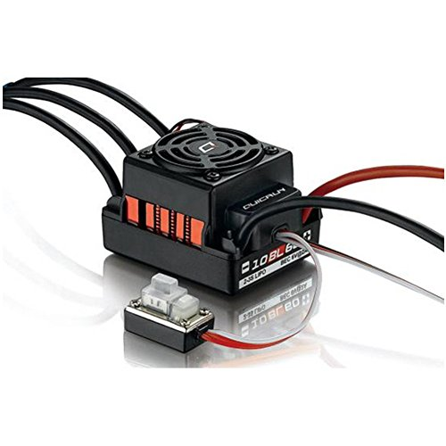 Hobbywing #QUICRUN-WP-10BL60 Hobbywing QuicRun Series RC Brushless Speed Controller Waterproof 60A Sensorless ESC #WP-10BL60 For 1/10 RC Red