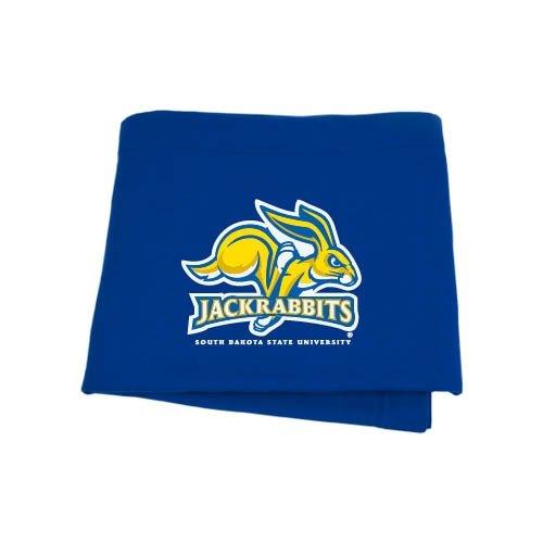 CollegeFanGear South Dakota State Royal Sweatshirt Blanket 'SDSU Jack Rabbits'