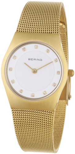 BERING Time 11927-334 Women's Classic Collection Watch with Mesh Band and scratch resistant sapphire crystal. Designed in Denmark.