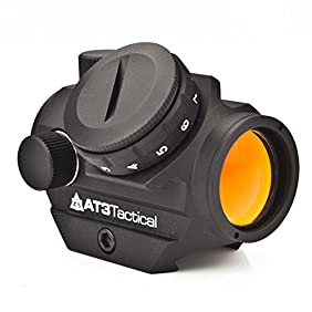 AT3 Tactical RD-50 Red Dot Reflex Sight with Optional Picatinny Riser Mount