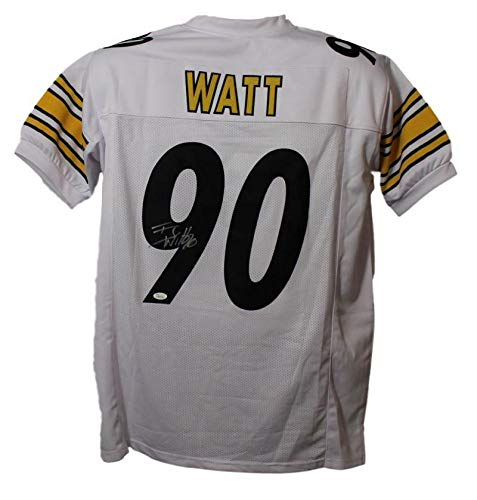 TJ Watt Autographed Pittsburgh Steelers Size XL White Jersey JSA (Pittsburgh Steelers Autographed Jersey)