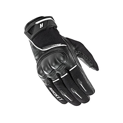Joe Rocket Supermoto Mens On-Road Motorcycle Leather Gloves - Black/White/Large
