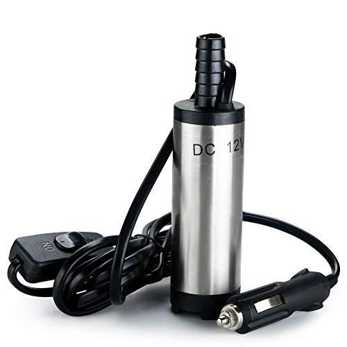 CHLZYD Multifunctional Tools 12V Submersible Pump 38mm Water Oil Diesel Fuel Transfer Cigarette Plug ()