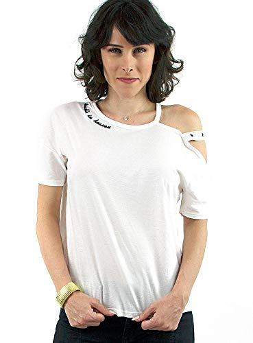 T-Shirt John John Nina Off Um Ombro Só Com Alça Feminino - Tamanho Camiseta(M) Cores(Off White)