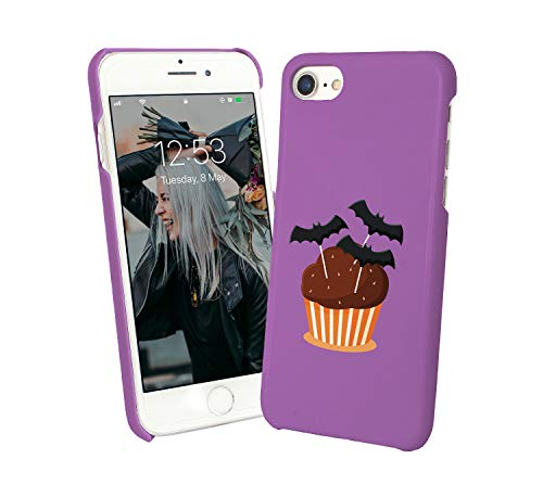 Halloween Bat Cupcake Treats_007299 Phone Case Cover Hard PC Cover for Protection Compatible with for iPhone 7 Plus Plus Funny Gift Christmas