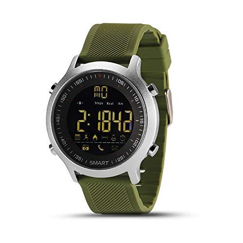 KawKaw EX18 Edelstahl Smartwatch mit Alarm, Fitnesstracker, Schlaftracker, Pedometer, Schrittzähler & Kalorienzähler…