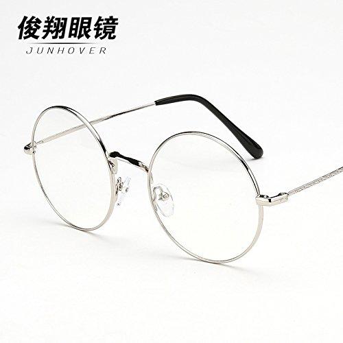 lunettes rondes rétro rétroviseur personnalité féminine tide modèles masculins des métaux ultra - léger art section round avec myopie collecte des marchandises