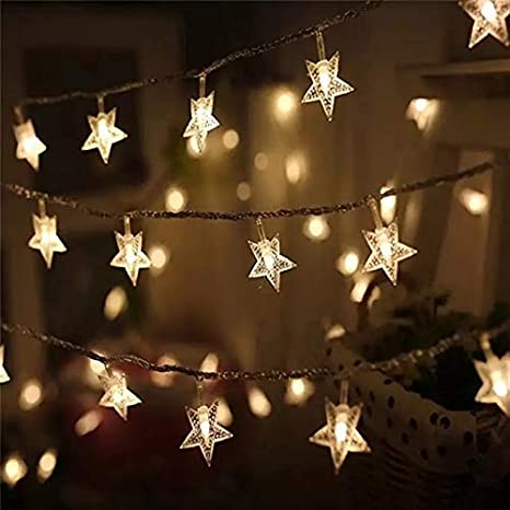 Satyam Kraft 3 Meter 20 Star String Lights For Indoor Outdoor Decoration Diwali Light For Party Birthday Diwali Christmas Navratri Valentine Gift Home