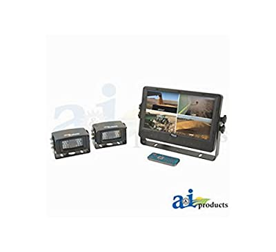 "CabCAM Video System; Quad (Includes 9"" Digital Touch Screen TFT LCD Monitor and 2 Cameras)"
