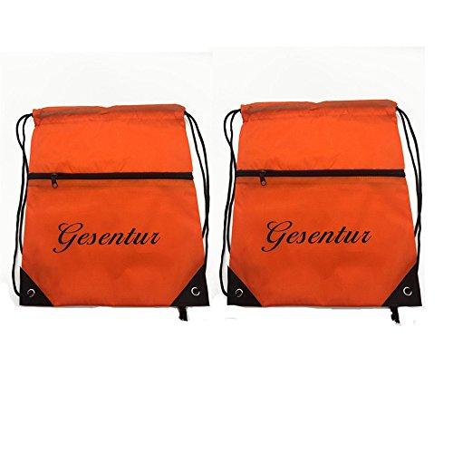 Drawstring Bags Nylon Training Gymsack Gym Sackpack Bag Drawstring Backpack Light Sport Bags Pack for Men & Women (TWO)