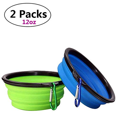 Collapsible Dog Bowl,Pet Bowls 5.1 inch,Collapsible Dog Water Bowl,Small Animal Bowl,Foldable Expandable Cup Dish for Pet Puppy Cat Rabbit,Food Water feeding TPE Travel Camping Bowl ()