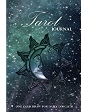 Tarot Journal - One Card Draw: Oracle Card Reading Workbook for Daily Insights with Sun Moon Galaxy Design