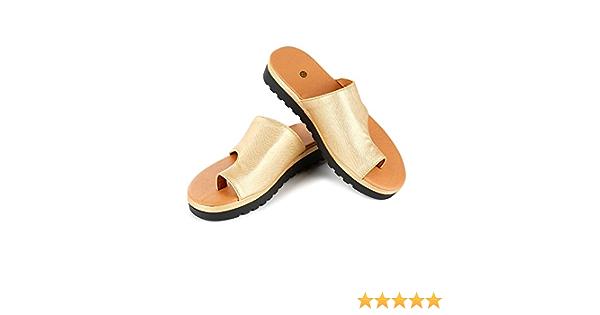 DESTINLEE Women Slide Sandals, Soft PU