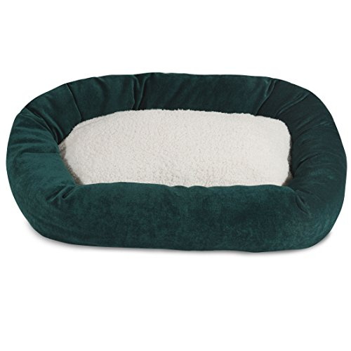 40 inch Marine Villa Collection Sherpa Bagel Dog Bed