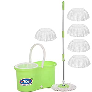 ABI CLEANING SOLUTIONS Mop with 6 Refills Super Absorbent Refills for All Home & Office Floor Cleaning,360 Degree Spin…
