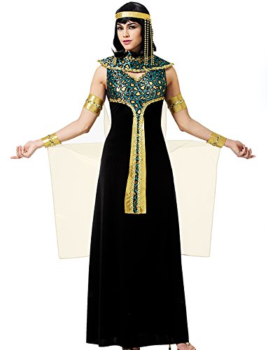Black And Gold Cleopatra Costume (Costume Culture Women's Cleopatra Costume, Black, Small)
