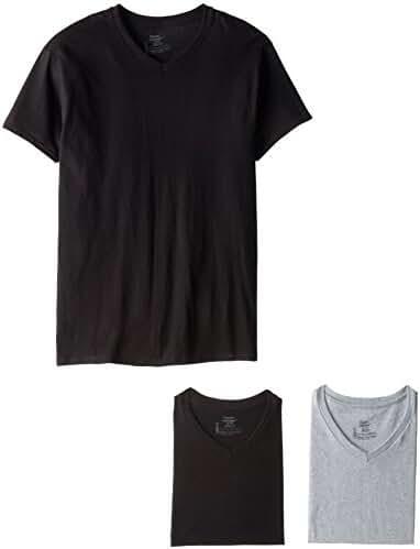 Hanes Men's FreshIQ V-Neck T-Shirts (4 Pack, 6 Pack and 12 Pack)