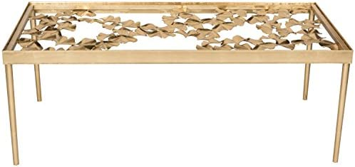Editors' Choice: Safavieh Home Collection Otto Antique Gold Ginkgo Leaf Coffee Table