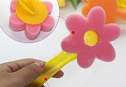 12 of Pcs Colorful Painting Sponge Stamp, Cartoon Foam Brush Set/12