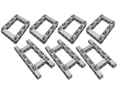 LEGO Technic NEW 7 pcs CHASSIS FRAME LIFTARM Beam Studless Part Piece 64179 64178 Mindstorms