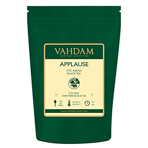 VAHDAM, Assam CTC Black Tea Loose Leaf (100+ Cups) | STRONG, BOLD & RICH Assam Tea Loose Leaf | 100% PURE Assam Chai Tea | EVERYDAY ASSAM MILK TEA | Brew as Hot Tea or Latte | 9oz ()